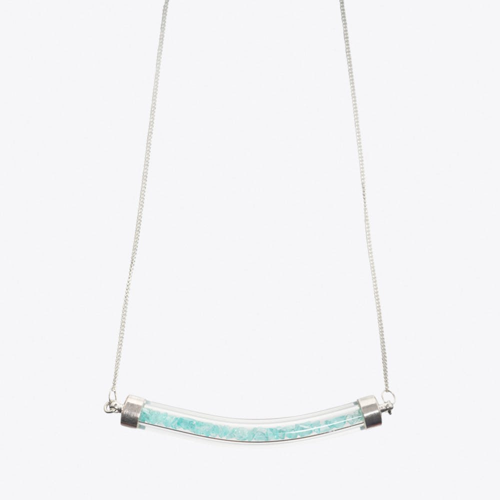 Crescent Necklace in Turquoise