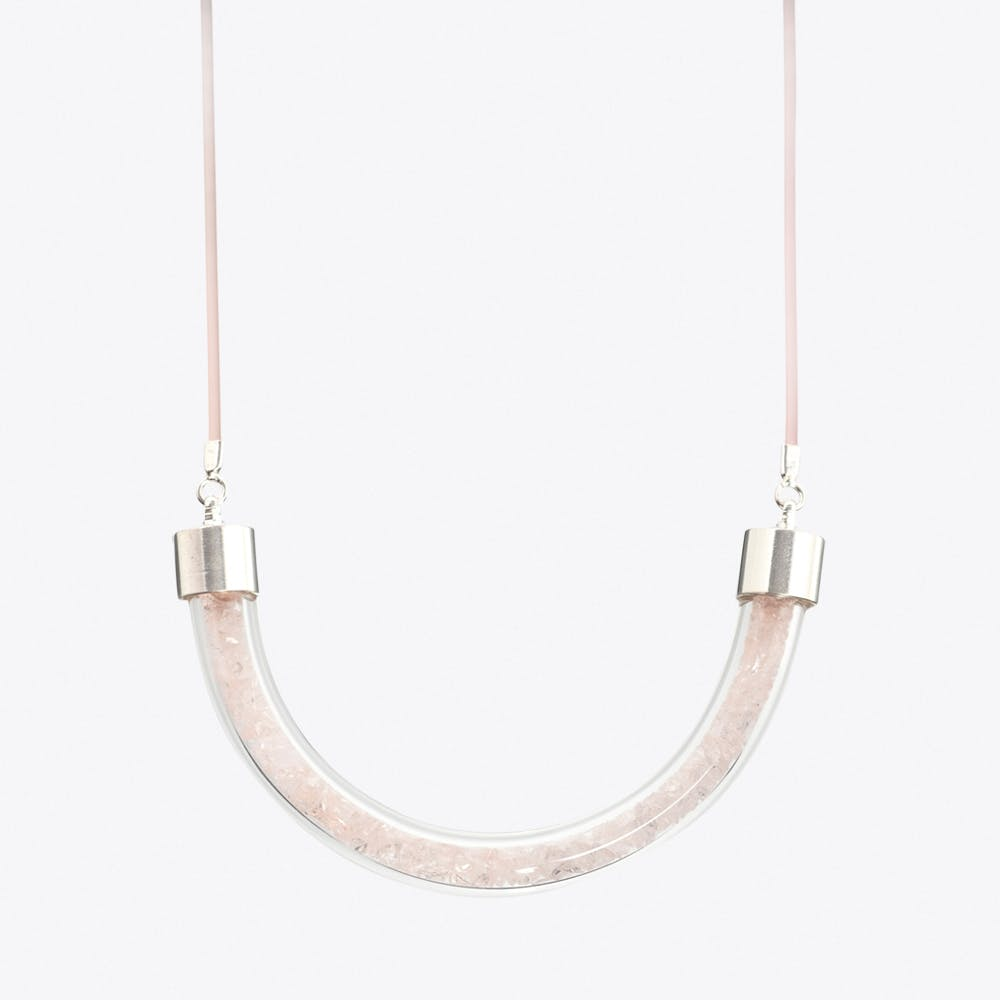Stardust Necklace in Peach
