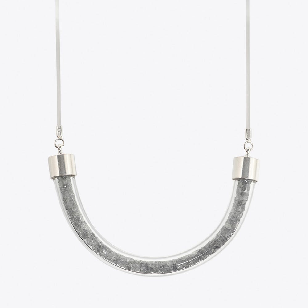 Stardust Necklace in Silver Grey
