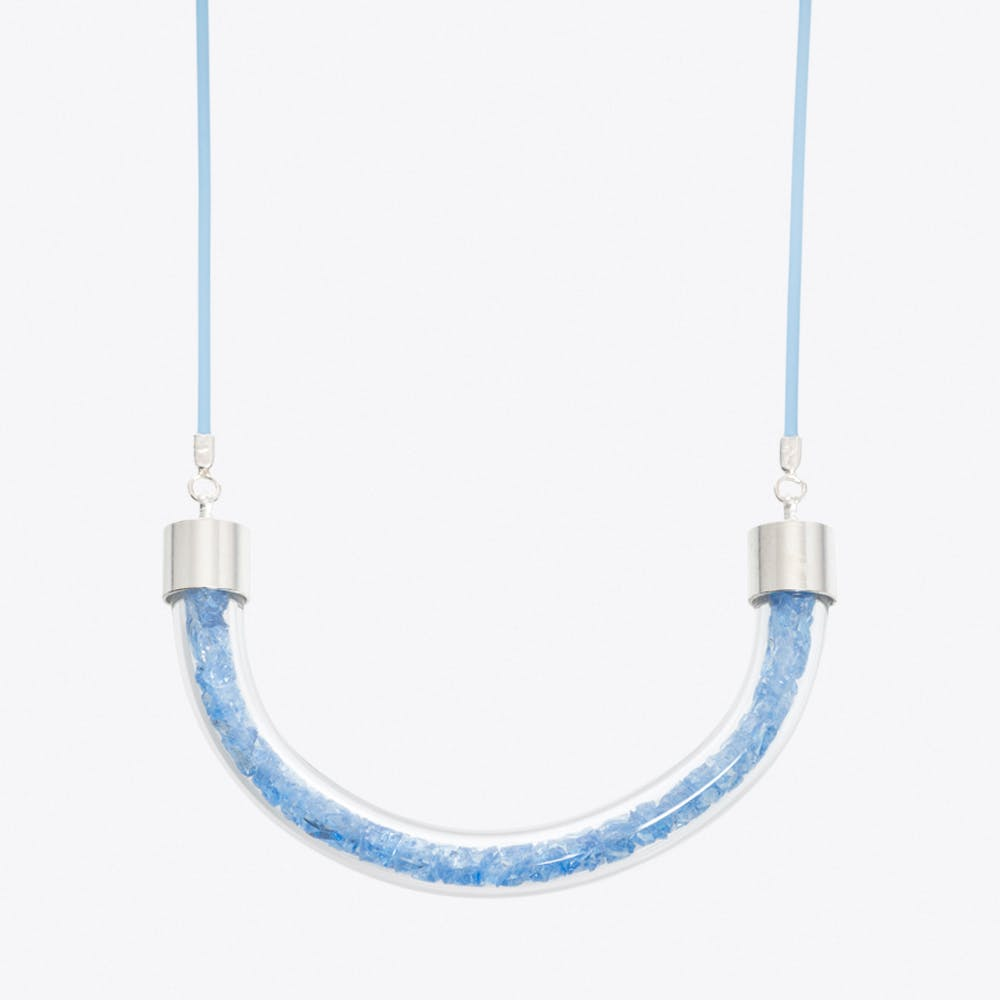Stardust Necklace in Aqua Blue