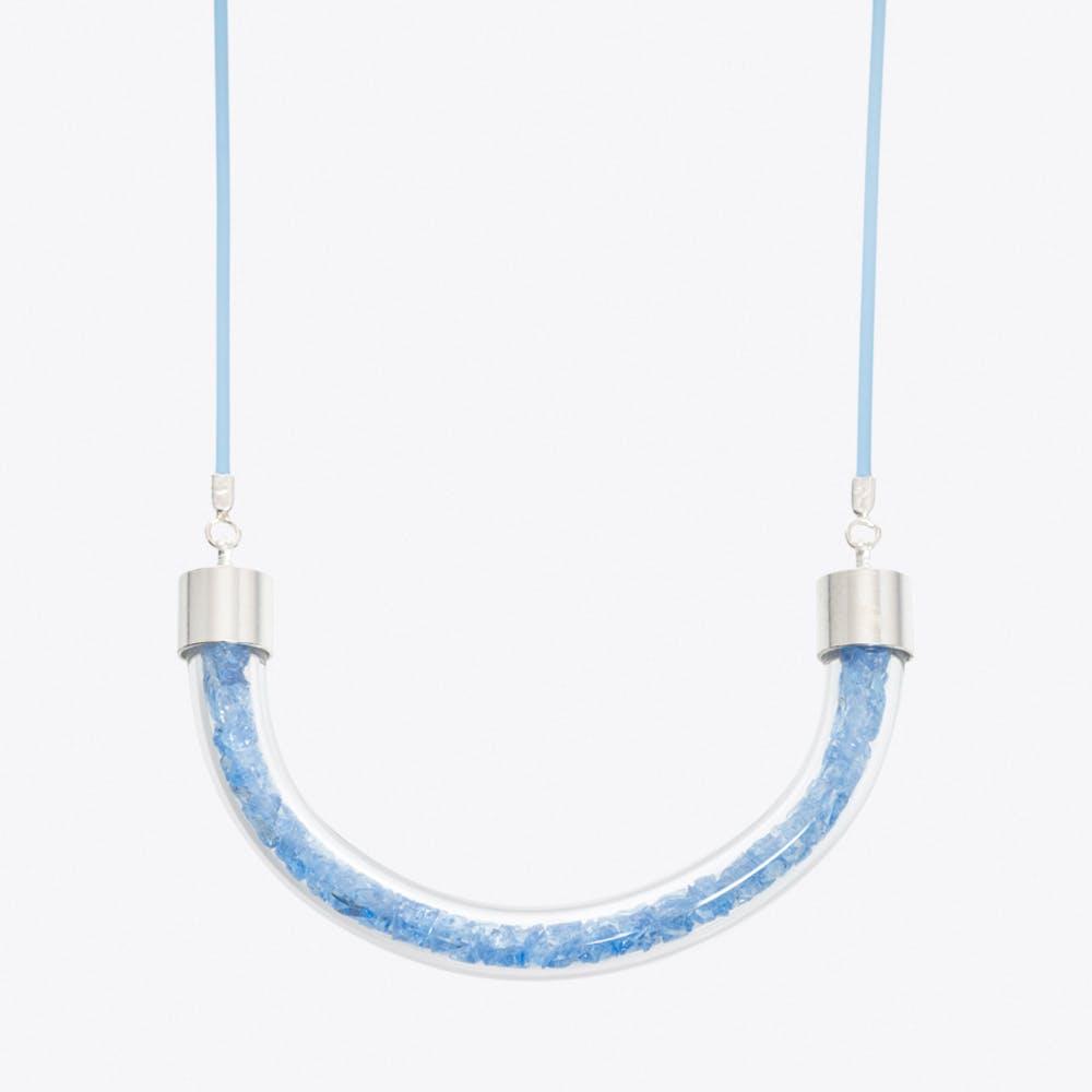 Stardust Necklace in Aqua Blue