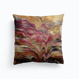 Pulled Canvas Cushion