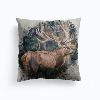 Forest Prince Canvas Cushion