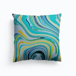 Bright Clouds Canvas Cushion