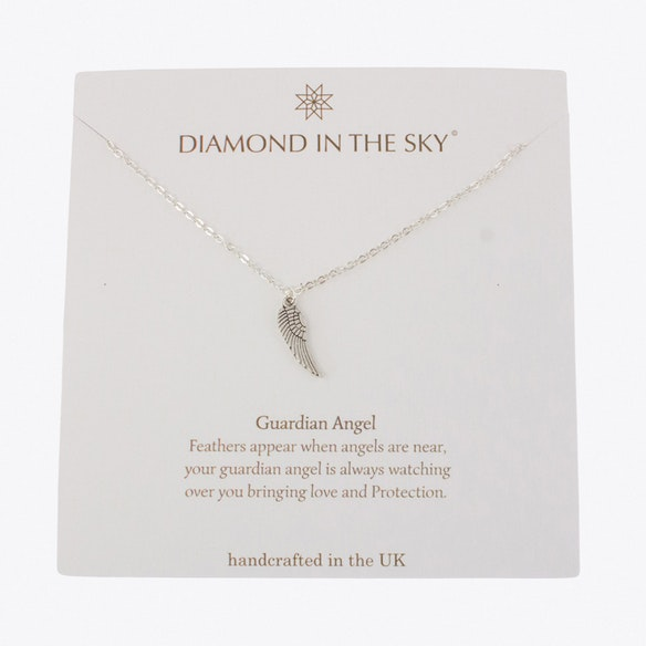 Guardian Angel Gift Card Necklace By Diamond In The Sky - Fy
