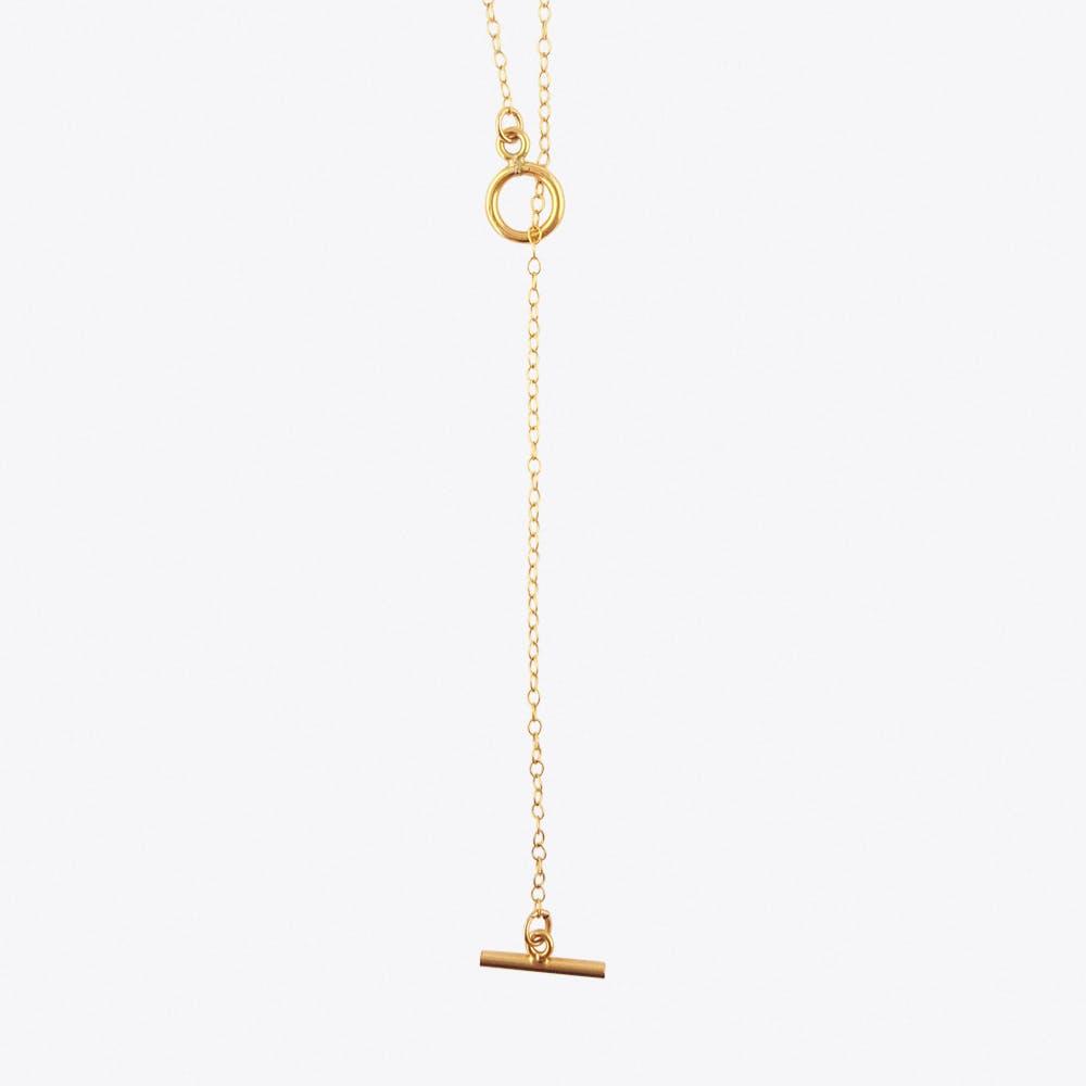 Gold Fill T Bar NecklaceGold fill