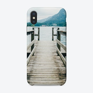 Mountain Lake Jetty Phone Case