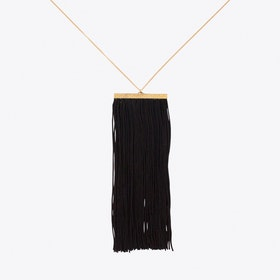 Fringe Necklace in Black & Gold