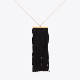 Fringe Necklace in Black & Gold