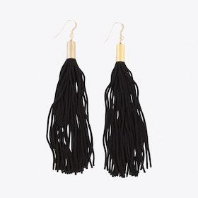 Tassel Earrings in *Black & Gold