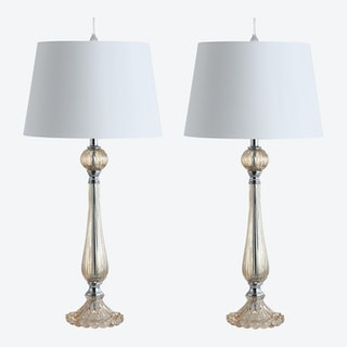 Chloe LED Table Lamps - Champagne - Glass - Set of 2