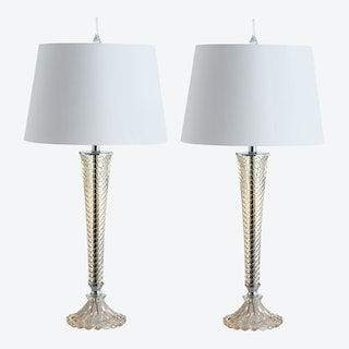 Caterina LED Table Lamps - Champagne - Glass - Set of 2
