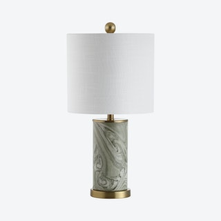 Swirl LED Table Lamp - Grey / Green - Ceramic