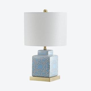 Catherine Ginger Jar LED Table Lamp - Blue / White - Ceramic / Metal