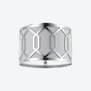 Hex LED Flush Mount Lamp - Chrome - Metal