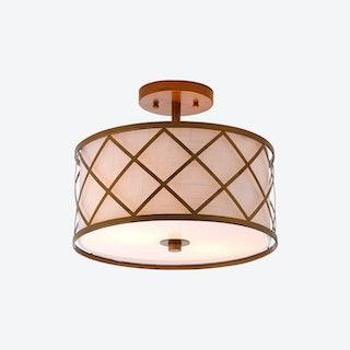 Elizabeth LED Flush Mount Lamp - Gold - Metal