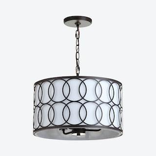 Loop 3-Light LED Pendant Lamp - Oil Rubbed Bronze - Metal