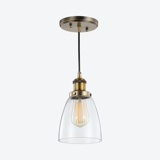 Cleo Adjustable LED Pendant Lamp - Brass Gold - Metal / Glass