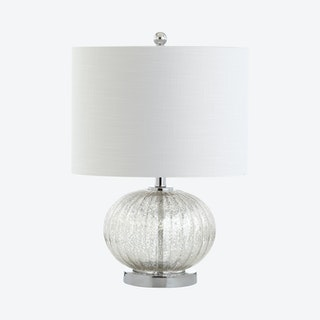 Judith LED Table Lamp - Silver / Ivory - Mercury Glass / Metal