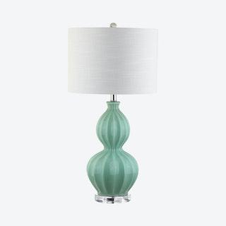 Faye LED Table Lamp - Seafoam Green - Glass