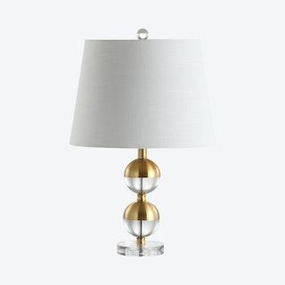Jules Mini LED Table Lamp - Brass Gold - Crystal