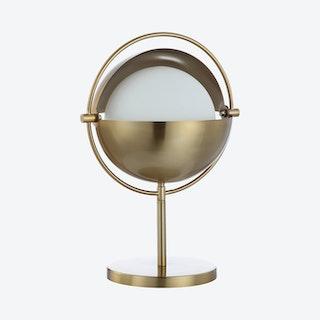 Casi Art Deco Mid-Century Globe LED Table Lamp - Brass Gold - Iron / Glass