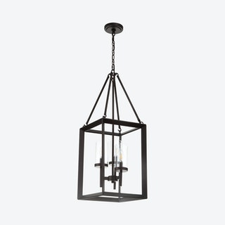 Anna 3-Light LED Pendant Lamp - Oil Rubbed Bronze - Metal / Glass