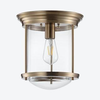 Savannah LED Flush Mount Lamp - Aged Brass - Metal / Glass