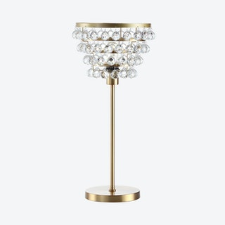 Buckingham Table Lamp - Brass Gold / Clear - Crystal / Metal