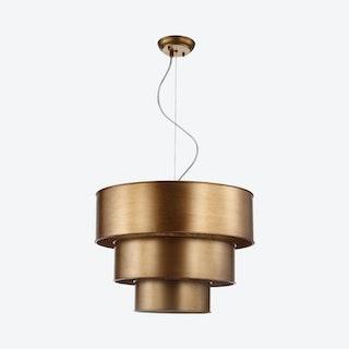 Lynn 3-Tier LED Pendant Lamp - Gold - Metal