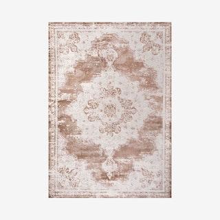 Alhambra Ornate Medallion Area Rug - Brown / Cream