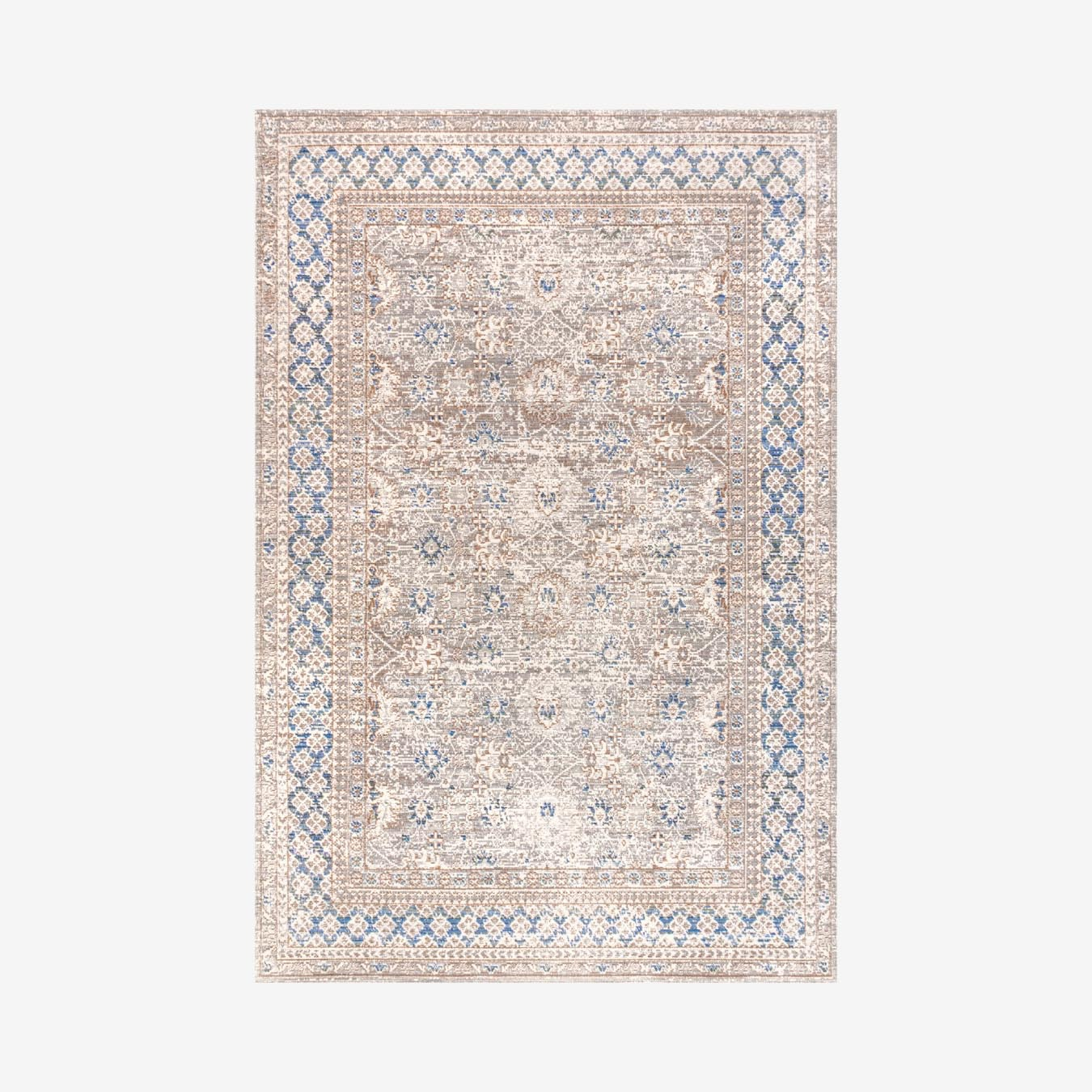 Hardwick English Country Argyle Area Rug Grey Blue By Jonathan Y Fy