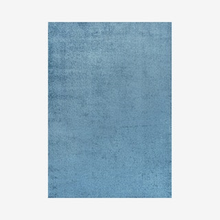 Haze Solid Low-Pile Area Rug - Turquoise