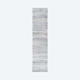 Tidal Modern Strie' Runner Rug - Grey / Blue