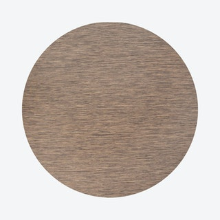 Ethan Modern Flatweave Solid Round Area Rug - Brown