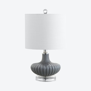 Kamille LED Table Lamp - Grey / Clear - Glass