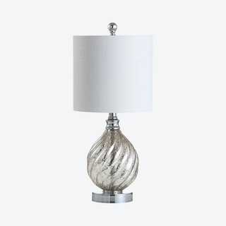 Lawrence LED Table Lamp - Mercury Silver - Glass / Metal