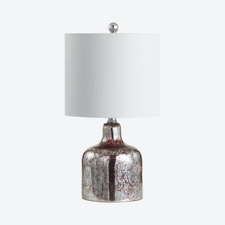 Gemma Bell LED Table Lamp - Chrome - Glass