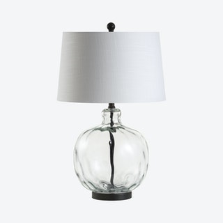 Rae LED Table Lamp - Clear / Black - Glass / Metal