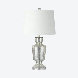 Olivia LED Table Lamp - Mercury Silver - Glass