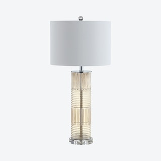 Genevieve LED Table Lamp - Champagne - Glass