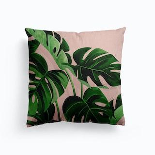 Monstera Canvas Cushion