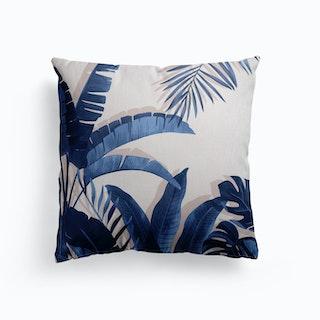 Tropical Blues Canvas Cushion