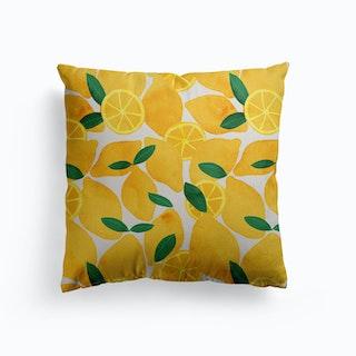 Lemons Canvas Cushion