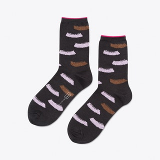 Brushstroke Crew Socks