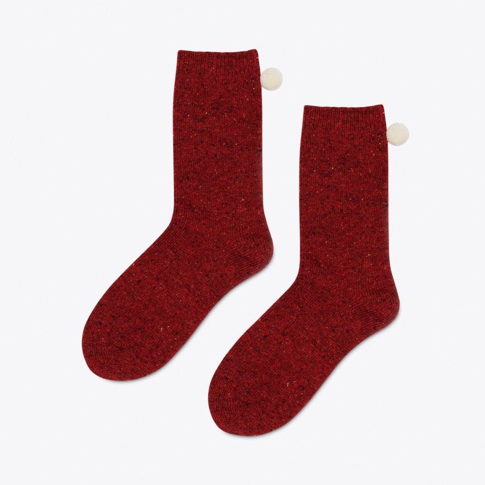 Heidi Crew Socks in Rust