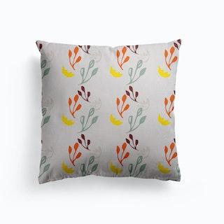 Flower Retro Vibe Canvas Cushion