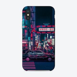 Cyberpunk Tokyo Street Phone Case