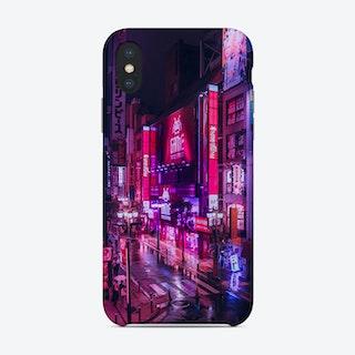 Post Apocalyptic Neon City Phone Case