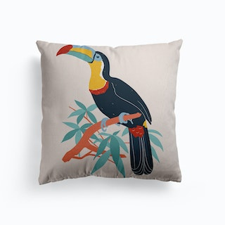 Toucan In A Tree Canvas Cushion